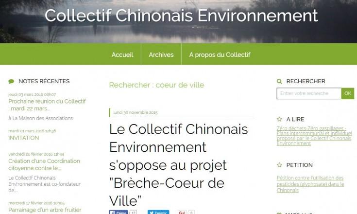 L'intégralité de l'article et des liens peut être retrouvée sur le site du Collectif Chinonais environnement